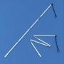 Baston de ghidaj, pliabil, din aluminiu, cu vârf de tip creion, pentru persoanele cu deficiențe de vedere - DISPONIBIL LA COMANDĂ