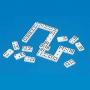 Domino tactil şi uşor de văzut, cu 55 de piese, adaptat pentru nevăzători