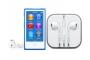 iPod Nano 16 GB albastru, cu căști cu microfon Apple Earpods with Remote and Mic, reportofon și player mp3 accesibil nevăzătorilor, cu voce în limba română